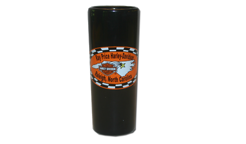 Ray Price H-D Tall Black Shot Glass