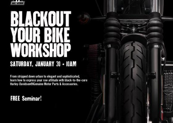 Black Out Your Bike Seminar
